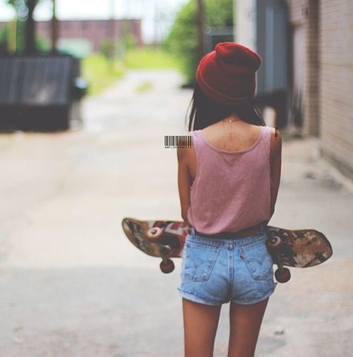 Love the outfit... But I can't skateboard lol