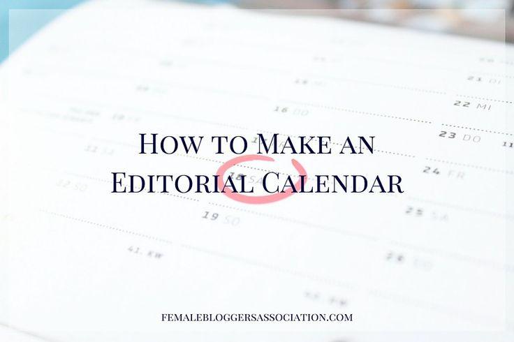 how to make an editorial calendar