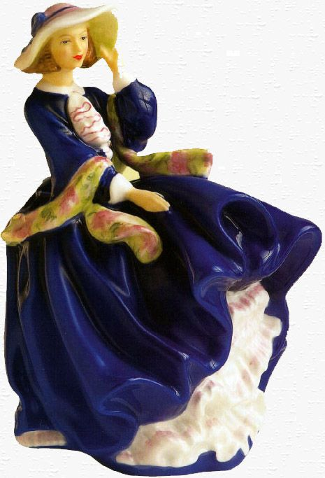 Vintage Royal Doulton Figurine.  Top of the Hill. Blue color way.