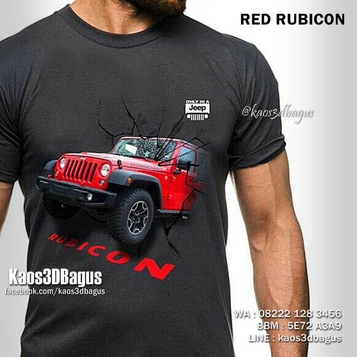 Kaos RUBICON, Kaos JEEP, Kaos OFFROAD, JEEP Community Indonesia, Seragam Klub JEEP, Jeep Lover, https://instagram.com/kaos3dbagus, WA : 08222 128 3456, LINE : kaos3dbagus