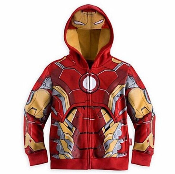 2017 new Iron Men Boys SuperHero Sweater Halloween Fancy Dress Kids Child Costume Cosplay