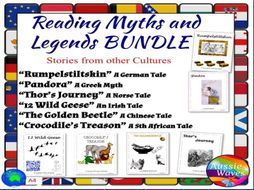 Myths Legends BUNDLE Cultural Text & Tasks Make Connections & Close Questions by mareehenderson21 - Teaching Resources - TES