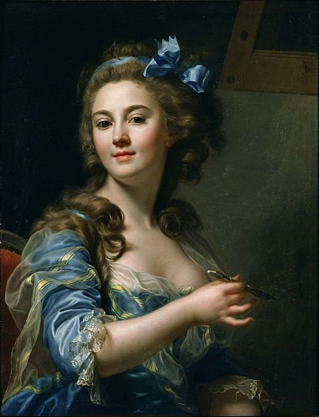 """Self-portrait"" (1783) by Marie-Gabrielle Capet. A talented painter and a hottie!"