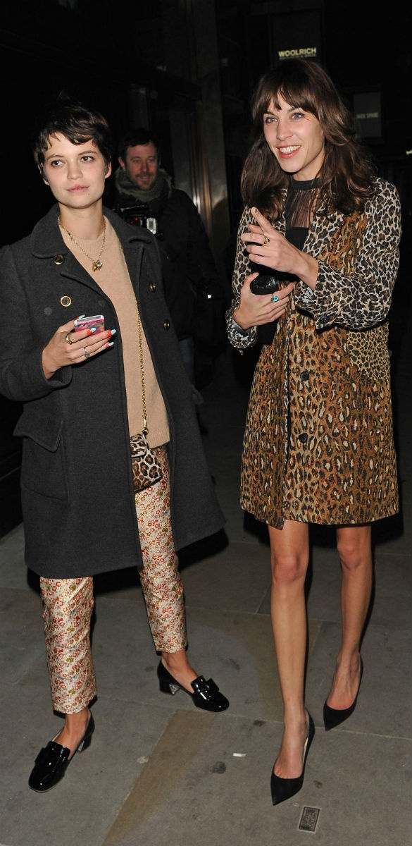 Alexa Chung in the Intersection Coat in Feline