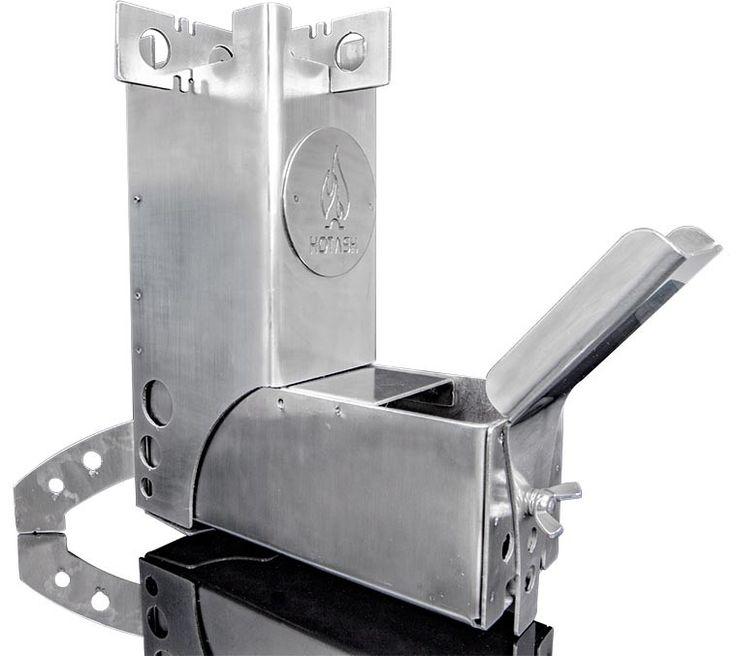 Hot ash portable rocket stove stove bushcraft and ash for Portable rocket stove heater