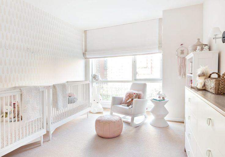 Pink and White Twin Nursery Modern Nursery for Twin Girls - Project Nursery