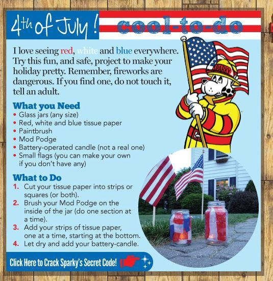 4th of July Cool to Do from Sparky!