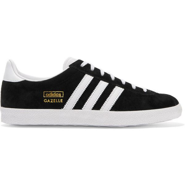 Adidas Originals Gazelle OG suede and leather sneakers, Women's, Size:... ($93) ❤ liked on Polyvore featuring shoes, sneakers, sapatos, adidas originals, leather sneakers, leather trainers, training shoes and genuine leather shoes