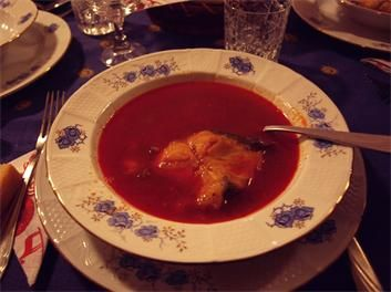 My favourite soup, fisherman's soup from Szeged, Hungary.