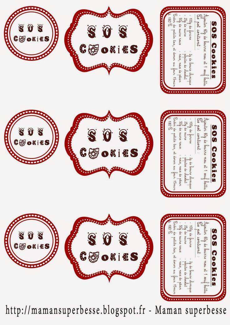 Les recettes d'Enora: S.O.S. Cookies- Kit cookies à ouvrir en cas d'urgence.