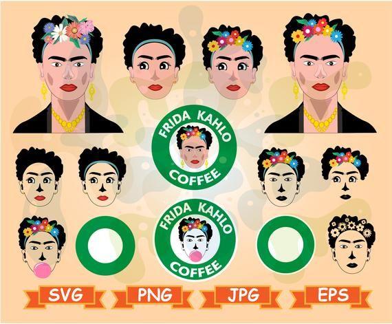 Frida Kahlo Svg Starbucks Frida Svg Frida Kahlo Clipart Frida Etsy Etsy Printables Frida Kahlo Svg