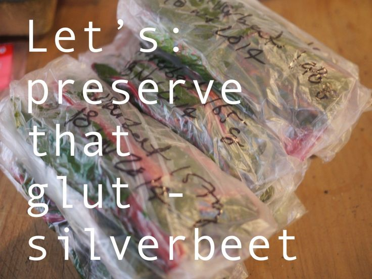 Have you got a glut of silverbeet (chard) hogging all your garden? Blanch and freeze those suckers for ease of use all year round.