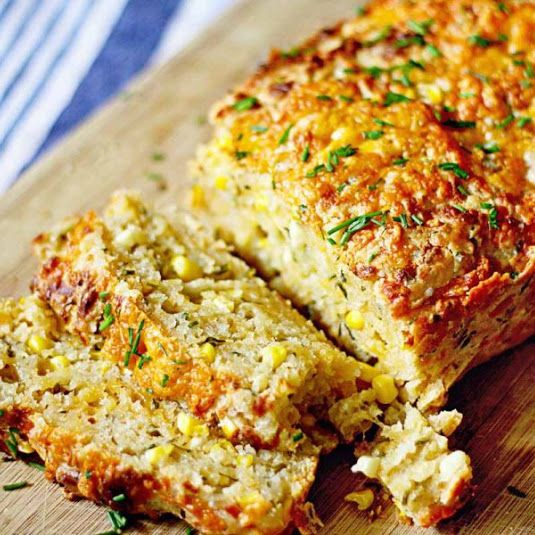 Cheddar, Chive & Corn Beer Bread