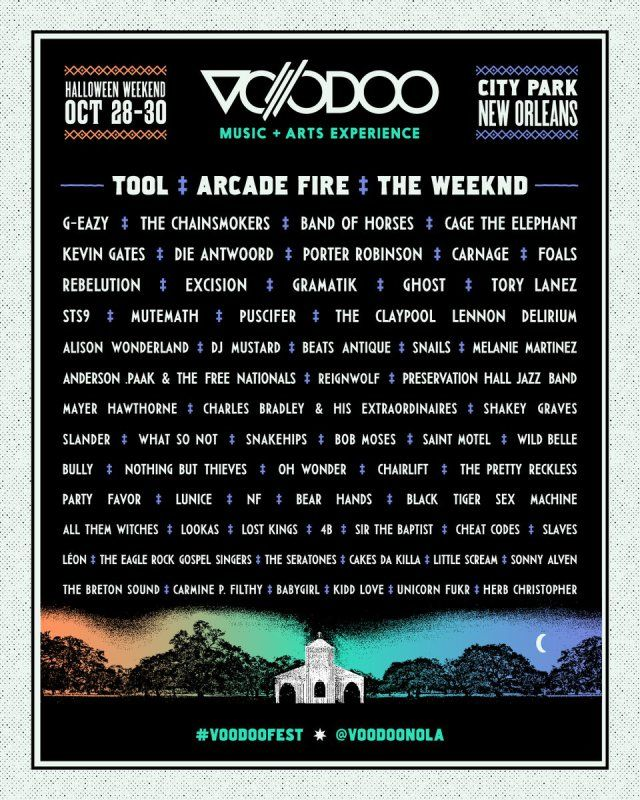 2016 VOODOO Festival in New Orleans with #TOOL #PUSCIFER #ARCADEFIRE