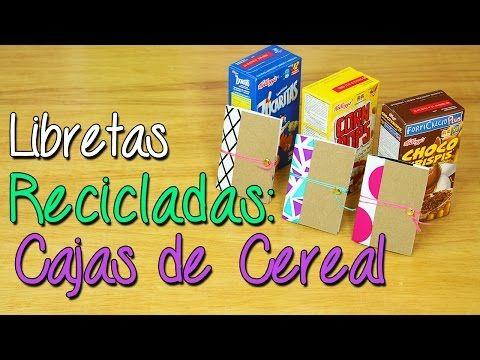 Convierte Cajas de Cereal en Libretas - Libretas Recicladas - Manualidades - YouTube