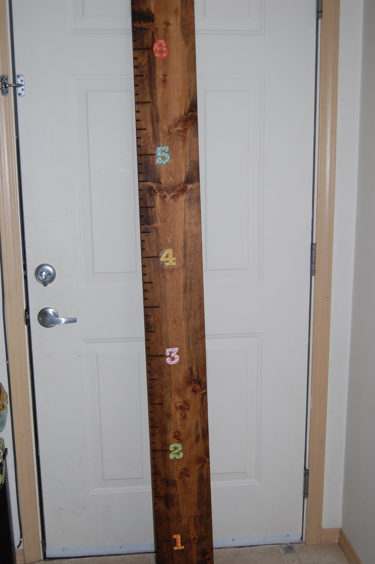 Christiney's Crafts: Growth Ruler: Crafts Paper, The Doors, Decor Ideas, Plays Rooms, Growth Charts, Fun Things, Doors Frames, Growth Ruler, Christiney Crafts