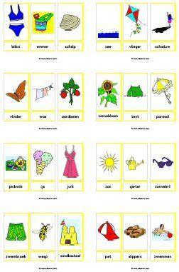 Woordkaarten downloads » Juf Sanne