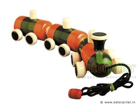 Exclusive Channapatna Toy Train crafted from wood & painted with vibrant organic colors