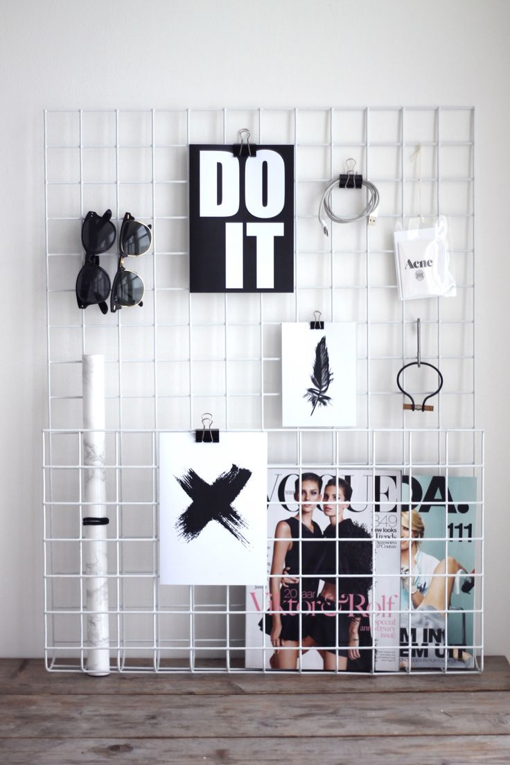 DIY pin/clip board for a wall or sitting on a desk - could be used as an inspiration board or for reminders
