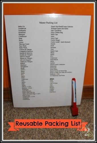 Make a reusable packing list and never forget anything again!