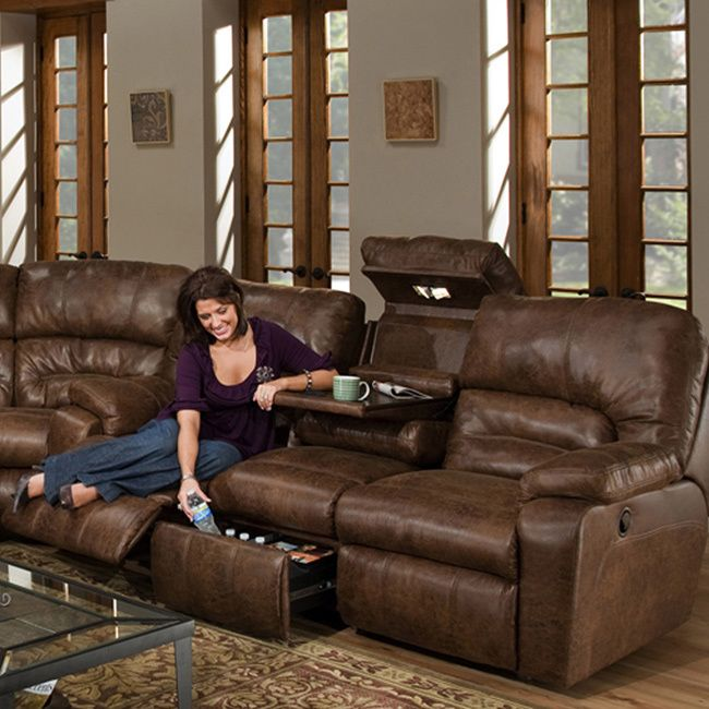Add luxurious comfort with a slight rustic appeal to your living room with this Dakota recliner. Leather Reclining SofaReclining ...  sc 1 st  Pinterest : brown leather reclining couch - islam-shia.org