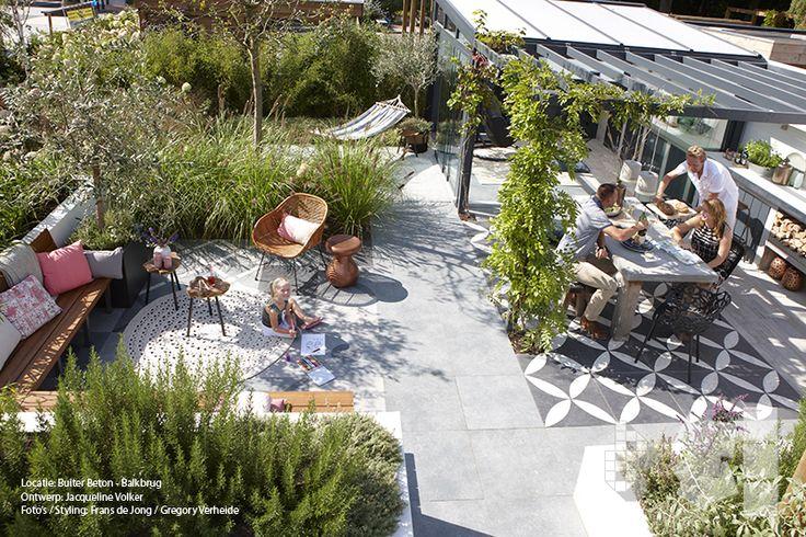 Binnen-Buiten tuin met vtwonen buitentegels. Ontwerp: Jacqueline Volker www.lifestyleadviseur.nl Lokatie: Buiter Beton - Balkbrug. Foto's: Frans de Jong