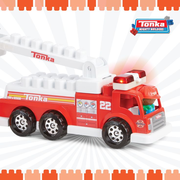 Your little one can play rescue hero with our Tonka Fire Tuff Truck Set! It even has real lights and sounds!