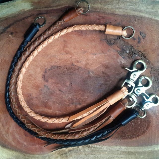 Leather lanyard Braided Chain  Braided Leather by SimpleFraction, $22.99