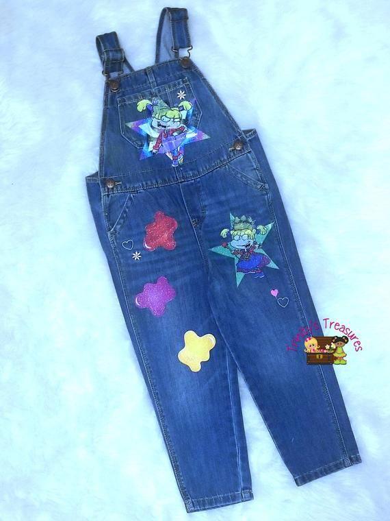 ae48a8afbe Denim Overalls Birthday Outfit Denim Jumper Custom Blue
