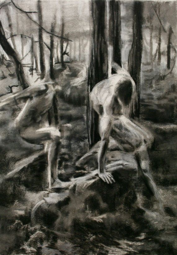 Original Charcoal Drawing // 22 x 31 by scoutcuomo on Etsy, $200.00