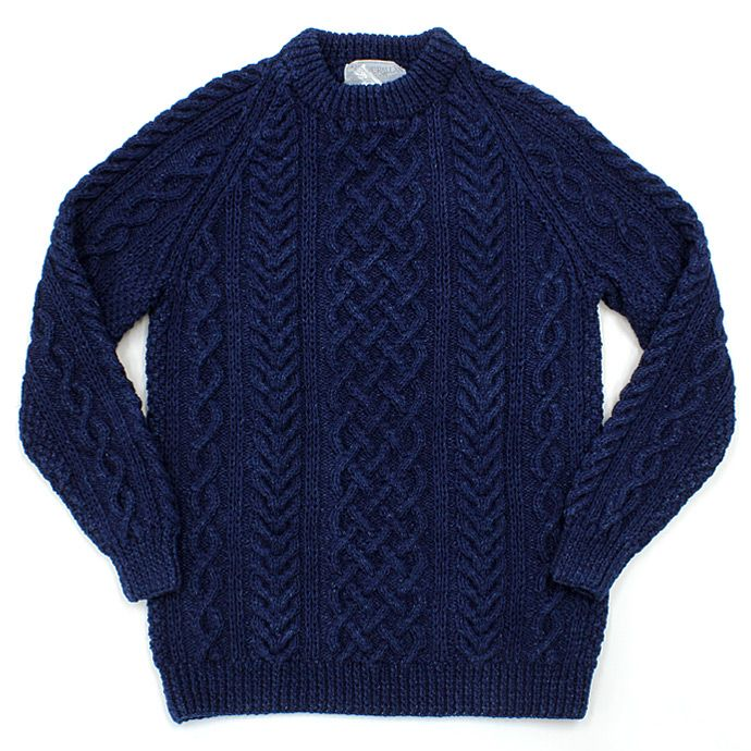 INVERALLAN / 1A Crewneck Sweater - Dark Denim 01