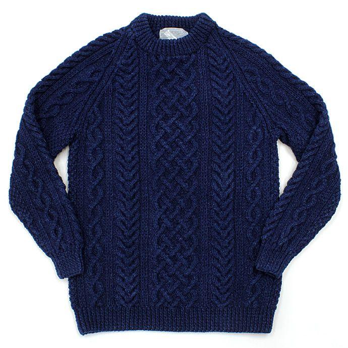 INVERALLAN / 1A Crewneck Sweater - Dark Denim 01