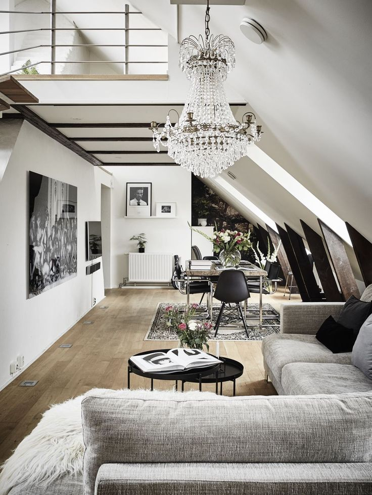 Best 25 loft living rooms ideas on pinterest industrial loft apartment industrial chic style - Scandinavian interior ...