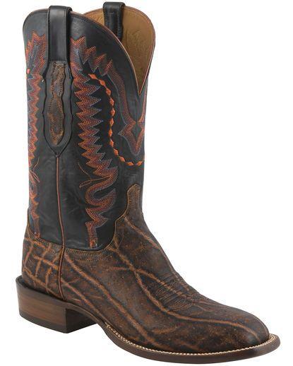 Lucchese Elephant Bark Cowboy Boots