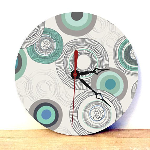 Wallpaper Pattern Clock  Analog Clock  Wall Clock  by JDzigner