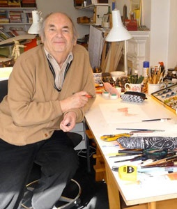 Quentin Blake illustrator.  Most famous for his collaborations with Roald Dahl.  See http://www.youtube.com/watch?v=nYeCwqueLpI and his website for heaps of info http://www.quentinblake.com/en/