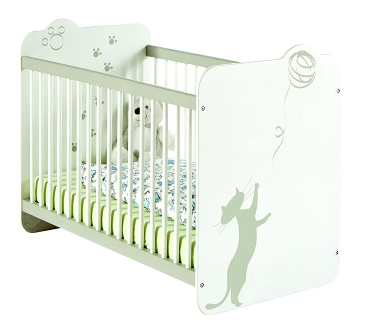 Babybett Elino 60x120cm in Weiß