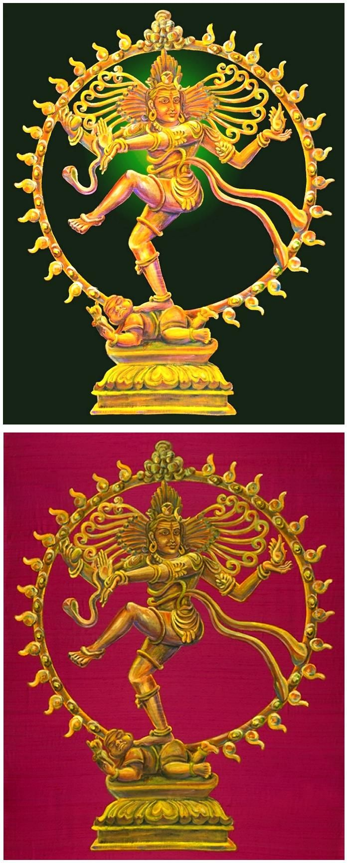Nataraja, bharatanatyam, indian paintings, hindu, god, dance