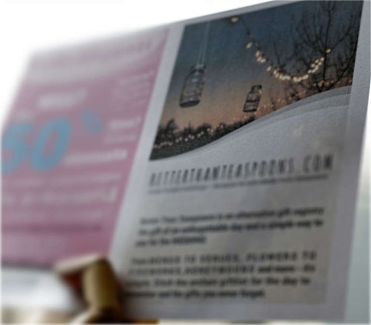 Advertisement on Pearl White Metallic Paper