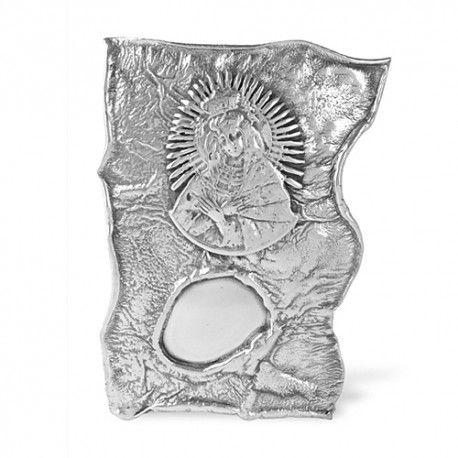 Ryngraf stojący srebrny