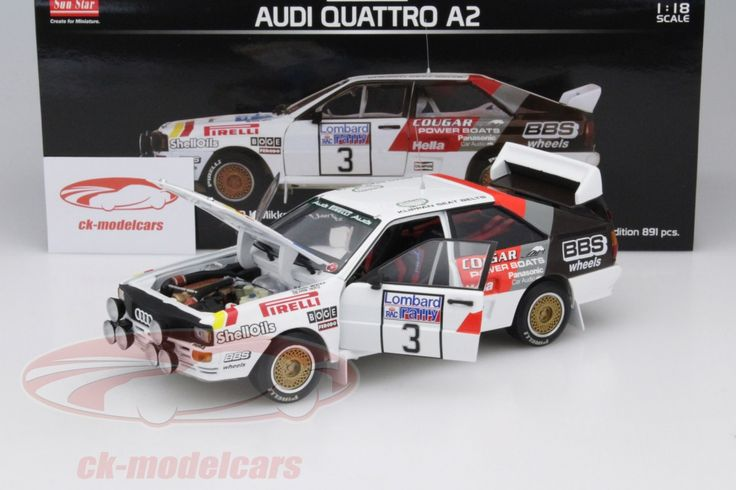 Audi Quattro A2, 2nd Lombard RAC Rally 1984, No.3, H.Mikkola / A.Hertz. Sun Star Models, 1/18, Limited Edition 891 pcs. Price (2016): 50 EUR.