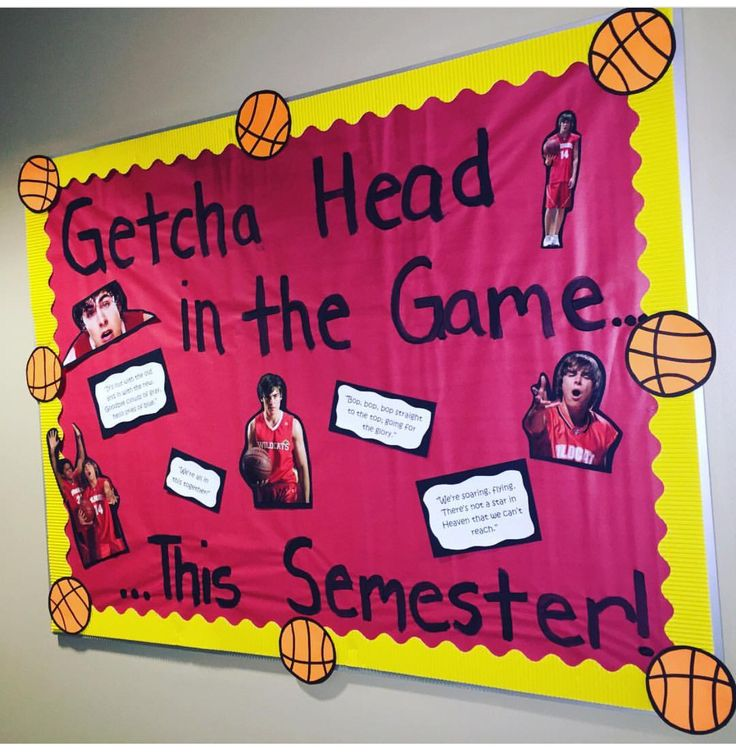 Last minute bulletin board- who doesn't love a little HSM? RA bulletin board ideas!