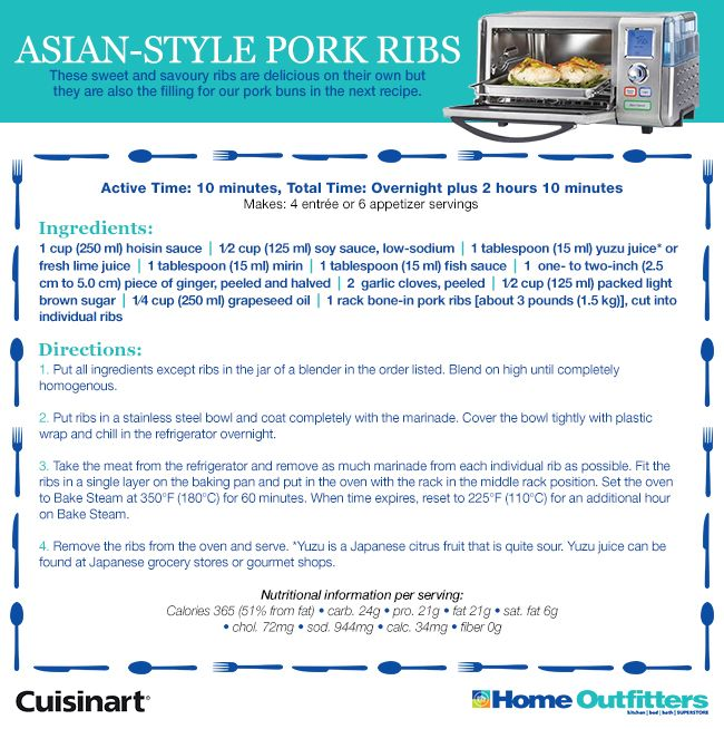 Enter to Win: Cuisinart Daily Giveaways Pork Ribs are Yummy! #HOSteamCooking @Home Outfitters