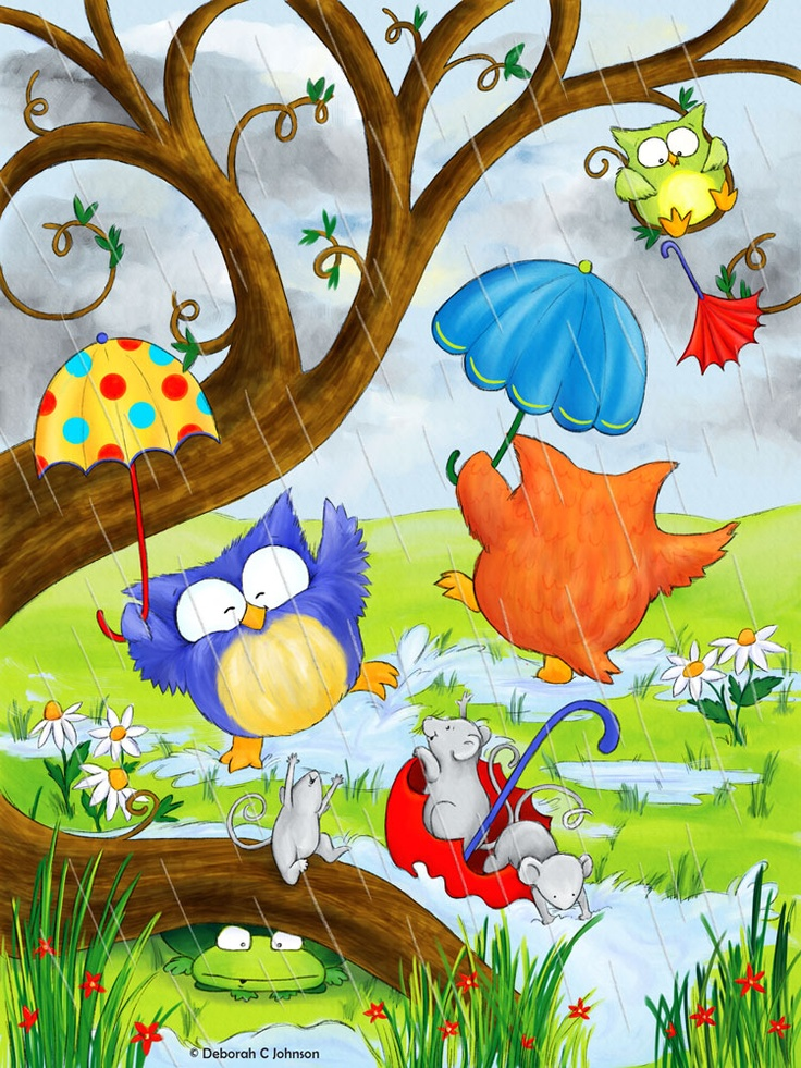 owls in the rain by Deborah C. Johnson