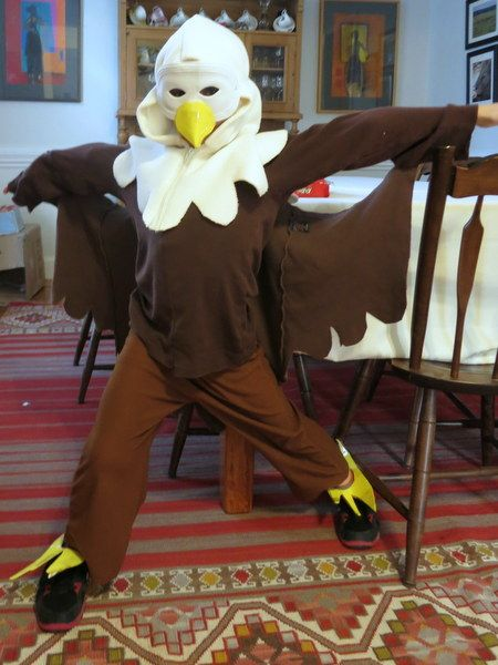 Bald Eagle Costume from thrifted items                                                                                                                                                                                 More