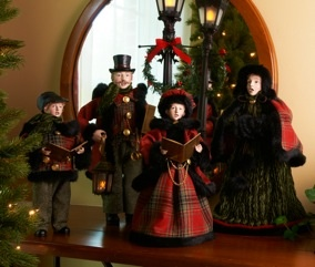 Our tabletop carolers have become a holiday tradition.  Here is our 2012 set.