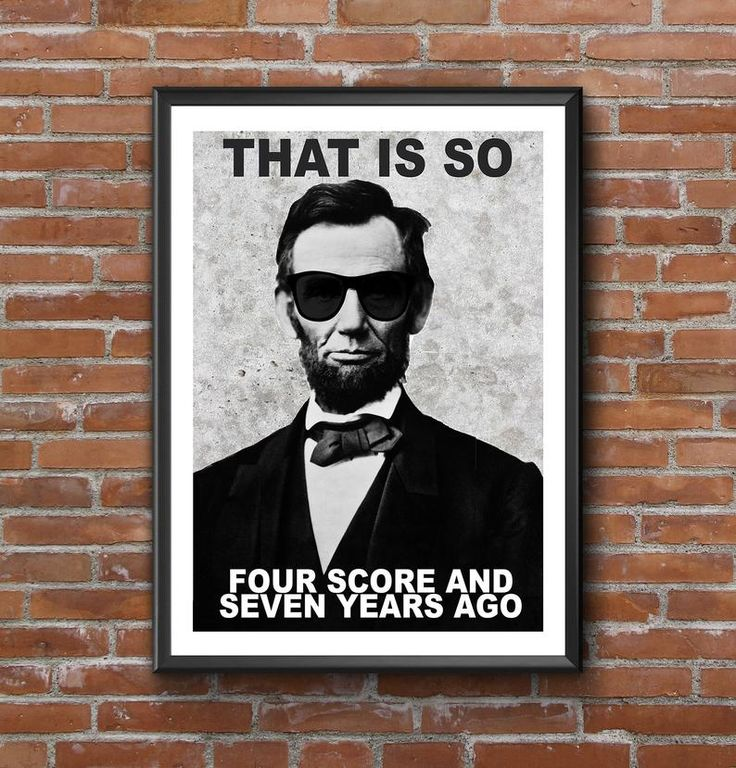 Funny Classroom Print, Abraham Lincoln Poster, History Teacher Gift, Lincoln with sunglasses, History Lover Gift, History Class Decor