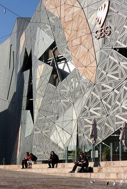 Federation Square - Melbourne, Australia by Philip Bouchard