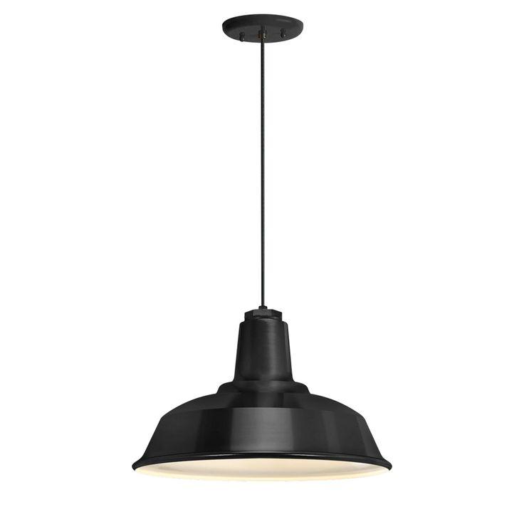 Heavy Duty Black One Light 14 Inch Outdoor Pendant Troy Rlm Lighting Outdoor Pendants  Utility room x2