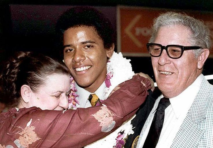 Obama is seen in 1979 during his high school graduation in Hawaii with his maternal grandparents, Stanley Armour Dunham and his wife Madelyn Payne, both natives of Kansas. Madelyn Dunham passed away on Nov. 2, two days before the election, after battling cancer.